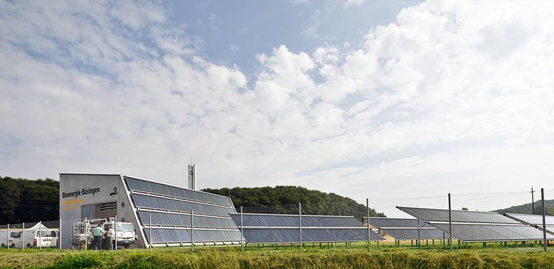Bioenergiedorf Büsingen: Solar-unterstütztes Wärmenetz