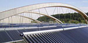 Fernwärmenetz Solaranlage in Wels