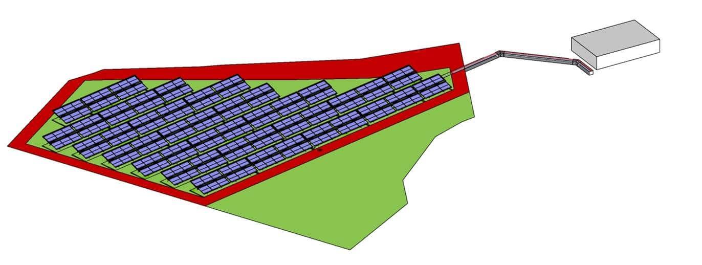 Planungsskizze solare Anlage in Bergheim von Ritter XL
