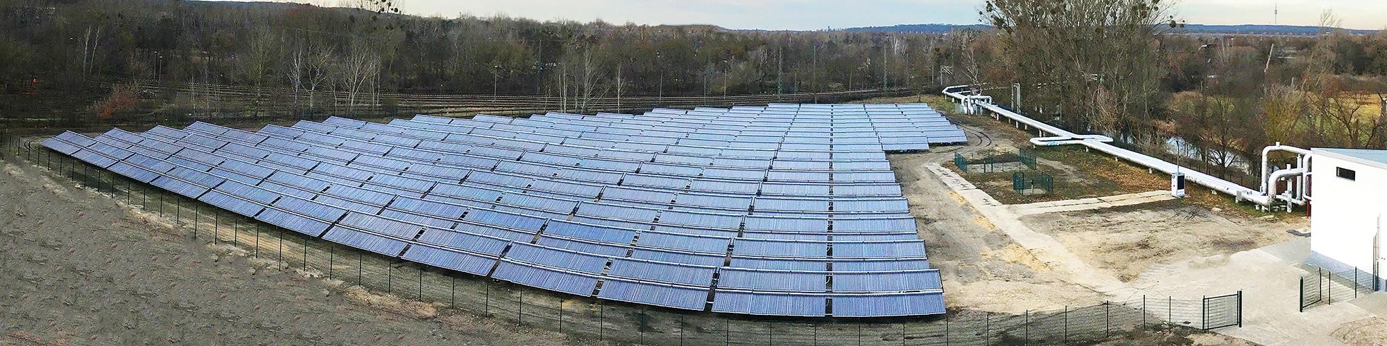 Stadtwerke Potsdam - Solare Großanlage für Wärmenetz