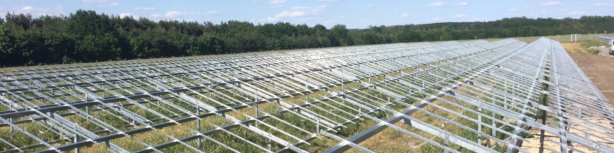 Freiland-Montagesystem für Kollektoren bei Großanlagen