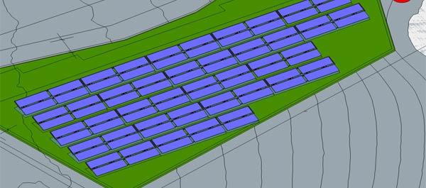 solare Großanlage für Wärmenetz in Gimbweiler