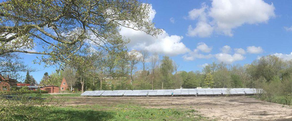 Solaranlage für Wärmenetz der Gemeinde Ellern