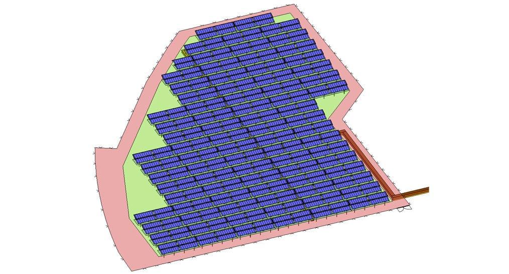 solare Großanlage der Stadtwerke Potsdam Planungsentwurf