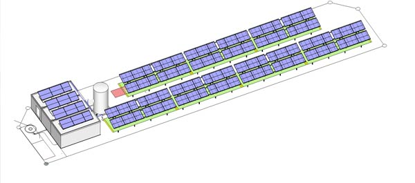 die geplante solare Großanlage in Ulm
